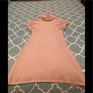 Kensie Pink Cowl Neck Sweater Dress